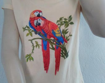 T-shirt short sleeve painted by hand