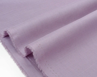 Linen fabric and soft cotton purple x 50cm