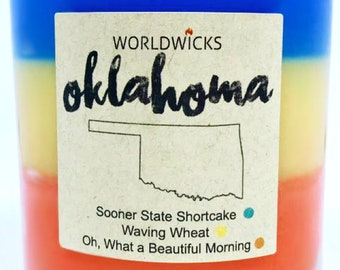 Oklahoma Triple Scented Candle
