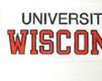 """University of Wisconsin Grograin Ribbon 7/8"""" Wide 10 Yds"""