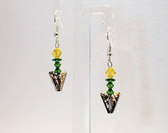 Swarovski Crystal Daffodil Earrings