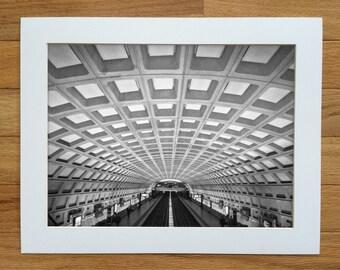 DuPont Circle Station photograph. Washington DC architectural wall art. Urban fine art print. Multiple sizes available.