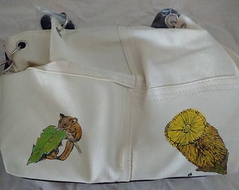 Handbag, Hand painted possum design