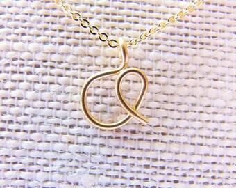Cursive Letter Necklace, Letter A Necklace,  Gold Initial Necklace, Letter Necklace, Initial Necklace, Initial A Necklace, Initial Jewelry