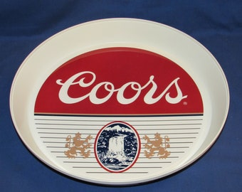 COORS SERVING TRAY Vintage Brookpark Plastic Brewerania Advertising
