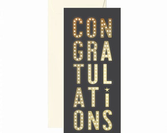 Congrats Marquee Greeting Card #10