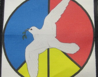Printed Sew On Patch - PEACE DOVE - Vest, Bag, Backpack, Jacket, T-Shirt - p92
