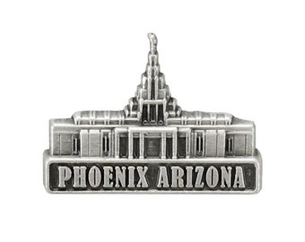 Phoenix Arizona Temple pin silver or gold finish Lapel pin