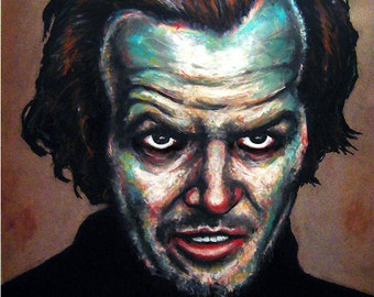 "Print 8x10"" - The Long Stare - The Shining Jack Torrance Redrum Murder Horror Dark Art Halloween Stanley Kubrick Serial Killer Pop Art"