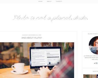 PLUTO   Responsive Blogger Template