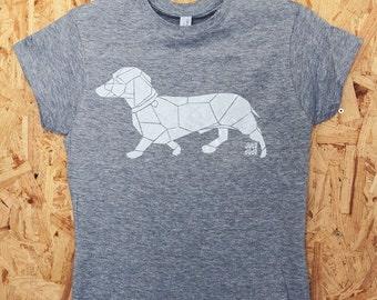 "Shirt ""Dachshundmetric"" screenprint handmade fair Shirt"