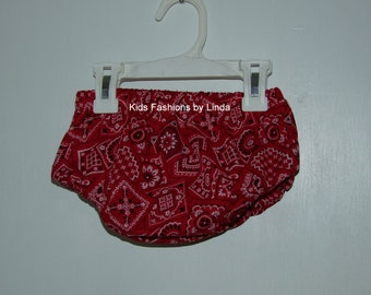 Red Bandana Diaper Cover