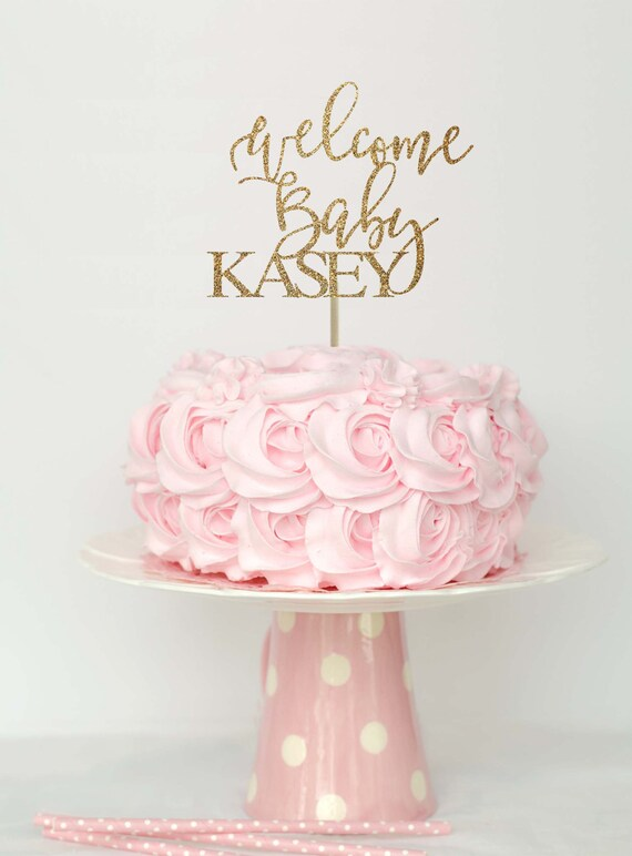 Welcome baby cake topper baby shower cake top baby shower