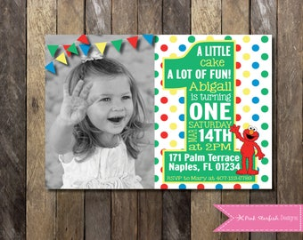 Elmo first birthday invitations Etsy