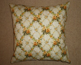 rose lattice cushion cover  45cm X 45cm 100% quilting quality cotton hand made. Now discounted to......
