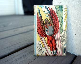 Falcon Light Switch Cover | Made from Authentic Marvel Comic Book Page | Man Cave, Comic Book Fan, Superhero Fan, Father's Day | Sam Wilson