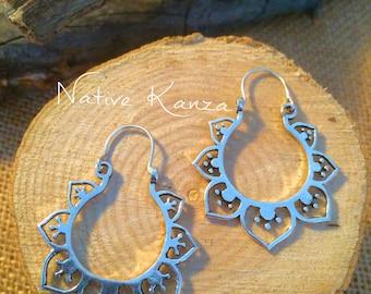 Silver earrings,boho silver,gypsy earrings,Tribal sliver Earrings, Tribal Hoops, Ethnic Earrings, Boho Earrings, Indian Earrings,