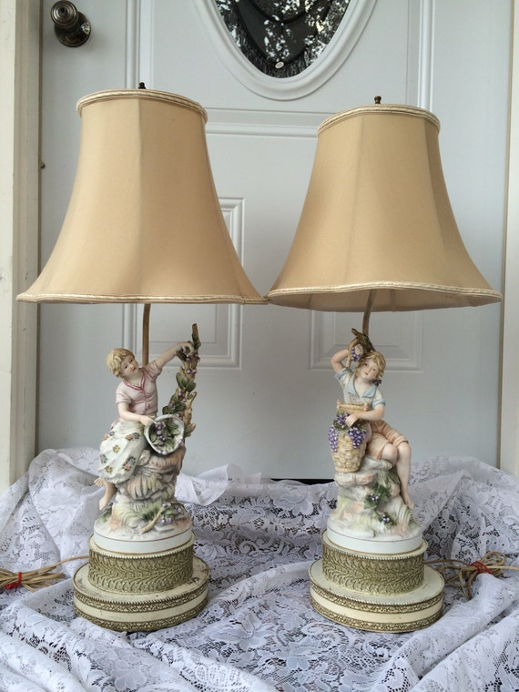 French provincial victorian table lamp aloadofball Image collections