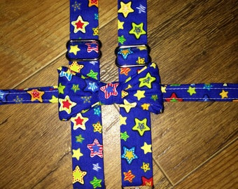 Birthday Party stars boys bow tie and suspender set - boy,child, toddler necktie/bow tie - perfect for birthday pictures outfit smash cake
