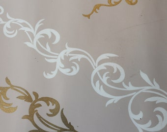 Beige and Gold Antique Wallpaper