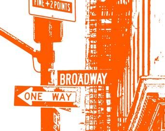 photography, street photography, Broadway, pop art, New York, urban, metro, city, street, lifestyle, street photography, nostalgic, orange