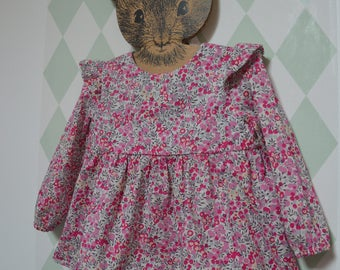 Liberty wiltshire little bougainvillea ruffled blouse