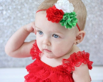 Christmas Headband, Baby Headband, Infant Headband, Newborn Headband, Christmas Baby Headband
