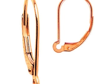 Our Exclusive 14K ROSE Gold Filled INTERCHANGEABLE Leverback Earring Wires USA