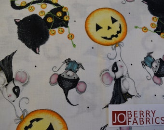 Halloween Characters by Stacey Yacula for Quilting Treasures.  Quilt or Craft Fabric, Fabric by the Yard
