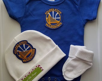 Golden state warriors baby outfit/golden state baby/baby golden state/golden state baby shower/golden state baby gift/warriors baby