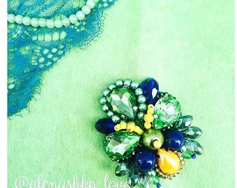 brooch handmademade with their own hands jewelry