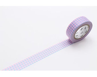 208867 mt Washi Masking Tape deco tape blue neon pink white square