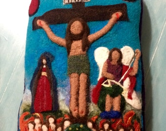 The Upcycled Felted Crucifixion of Christ