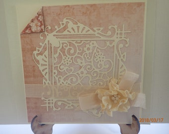 Shabby chic, vintage, handmade card, for a woman