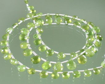AA Vesuvianite Faceted Heart Briolettes