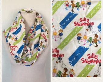 Frosty the snowman scarf- now available in regular and infinity!