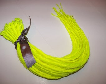 40 Neon Yellow SE Synthetic Dreads Dreadlock Hair Extensions or Dread Fall