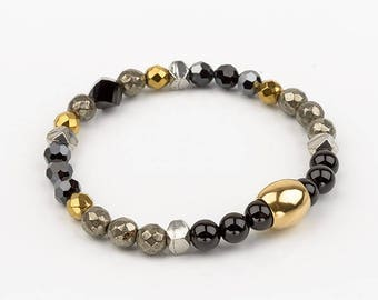 Bracelet - black and gold - OPULENCE