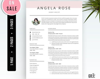 Professional Resume Template - CV Template - for Word (US Letter and A4) 1  2  3 Page resume template