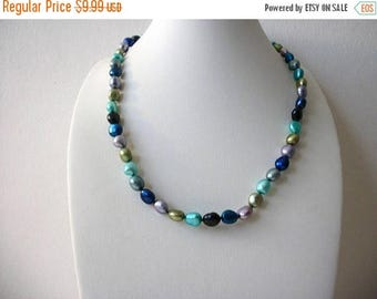 ON SALE Retro Colorful Glass Beads Shorter Length Necklace 81216