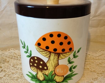 Retro Canister Kitchen Canister Sears Roebuck and Company 1970's 70's
