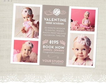 Valentine's Day Mini Session Template for Photographers - MS32