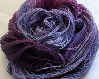 Handpainted Yarn - 4/2 Soft Cotton Yarn  BOYSENBERRY