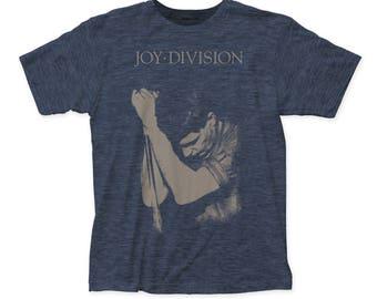 Joy Division Ian Curtis Soft 30/1 Men's Cotton Tee (JD08) Heather Navy