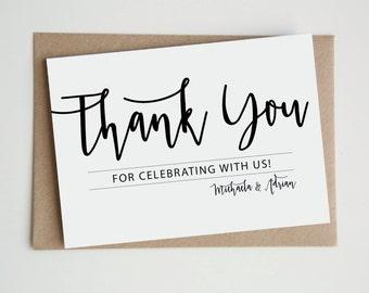 THANK YOU CARDS   Personalised Custom wedding engagement birthday 'Adriana Suite'
