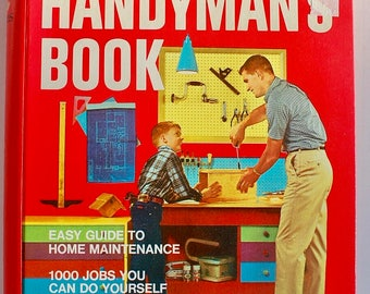 Better Homes and Gardens Handyman's Book 1970 vintage midcentury house