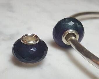 Fluorite Gemstone European Bead