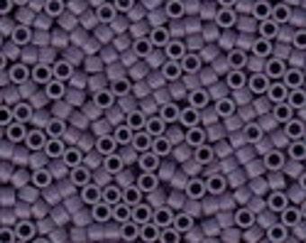 MIYUKI #11 Delica 0799 - Semi Matte Opaque Dark Lilac - 5 grams