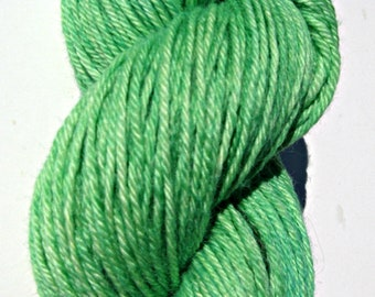 Green Hand dyed Baby Alpaca Yarn, Sport Weight, 3 ply