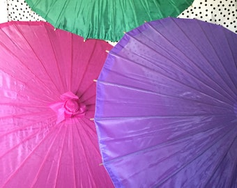 Parasols Nylon in Bold Colours  Red, Green,Purple and Hot Pink-**COLOURS AVAILABLE show at checkout**